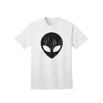 Extraterrestrial Face - Alien Distressed Adult T-Shirt by TooLoud