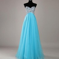 Stunning A-line Sweetheart Sweep Train Prom Dress
