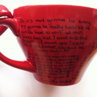 Mug with great men quotes from The Notebook - P.S. I Love You - The Vow - The Time Traveler's Wife - Pride and Prejudice - Wuthering Heights
