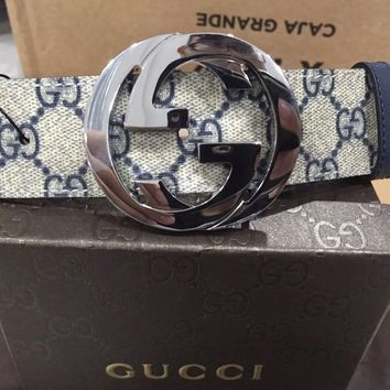 Gucci Supreme Canvas Belt 95CM (32-34)
