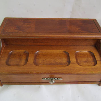 Mens Valet Dresser Box Mens Jewelry Chest Wood Jewelry Chest Centurion Jewelry Box Fathers Day Gift