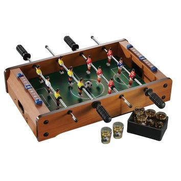 Game Night Foosball Table Shot Glass Set