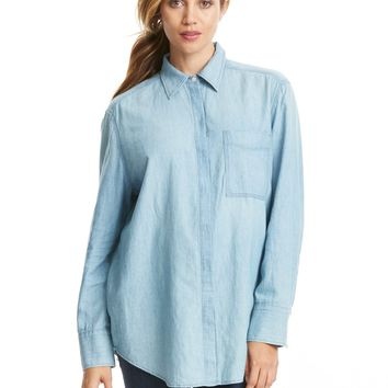 Vince Oversized Chambray Shirt