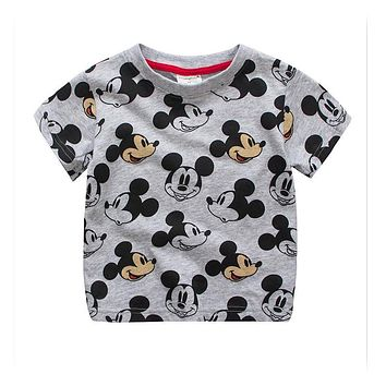 2017 Kids Fashion T shirts for boys Children T-shirts Baby girls Mickey style Tops tees clothes clothing infants costume 18M-7Y