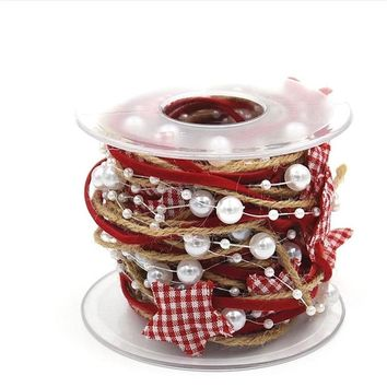 Omilut Christmas Decoration Chain Ribbon Christmas Tree DIY Star Merry Christmas Party Decoration Supplies Happy New Year