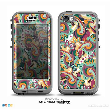 The Wild Colorful Shape Collage Skin for the iPhone 5c nüüd LifeProof Case