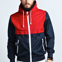 Colour Block Nylon Ripstop Bomber
