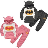 Baby Kids Girls Boys Batman Tops Hoodie Sweatshirt Suit Outfits Set Costume 2-7Y = 1928031300