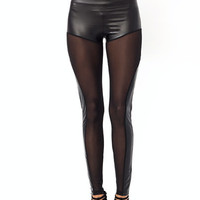 Sheer-Thing-Faux-Leather-Leggings BLACK - GoJane.com