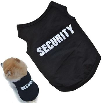 Security Summer Shirt Dog Clothes & Cat Clothes