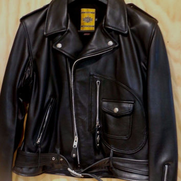Schott-NYC-Perfecto-75th-Anniversary-1928-Black Leather-Motorcycle-Jacket-44