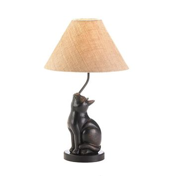 Set of 2 Curious Cat Lamps