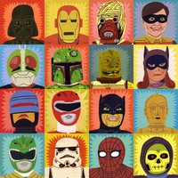 Ohh Deer - Heroes and Villains Canvas By Jack Teagle