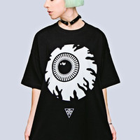 Long Clothing x Mishka Collaboration Keep Watch Oversize Fit Tee