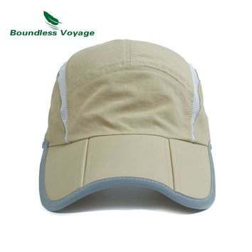 Boundless Voyage Unisex Quick-drying Cap Outdoor Adjustable Sun Hat Lightweight Sports Hat BVH02
