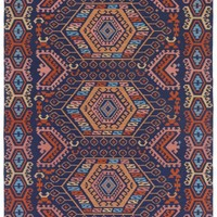 Galina Rug Indoor/Outdoor, Navy Blue