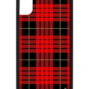 Red Plaid iPhone X/Xs Case
