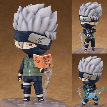"Naruto Sasauke ninja Anime  Kakashi Figure Nendoroid 724 Toy Model 4"" 10cm AT_81_8"
