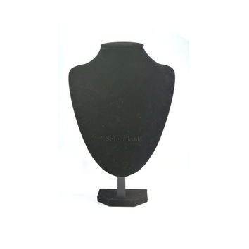 black velvet necklace display - jewelry display - jewelry stand - jewelry bust - black jewellery bust display - pendant display - 1 pc