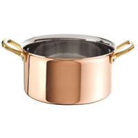 Large Copper with Stainless Steel Stew Pan