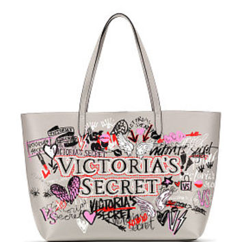 Graffiti Everything Tote - Victoria's Secret