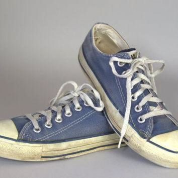 CREYON 80s converse made in usa blue chuck taylor low top converse allstars 7 womens 5 mens