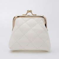Quilted Faux Leather Coin Purse