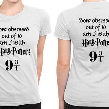 CREYH9S How Obsessed With Harry Potter Am I B 2 Sided Womens T Shirt