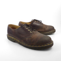 Doc Martens Oxfords Vintage 1990s Dr Brown Leather Oxfords Shoes UK size 12