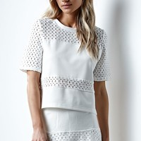 MinkPink Miles Apart Woven Top - Womens Shirts - White