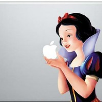 Snow White Holding Apple MacBook Pro Vinyl Decal Sticker (Available for 11, 13, 15, 17 inch and Air)
