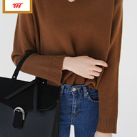 Knitted Split Neck Top