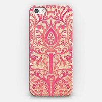 Strawberry Watercolor Tulip Damask on Wood iPhone 6 case by Tangerine- Tane   Casetify
