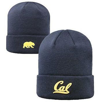 Licensed Cal Bears NCAA Knit Youth Tow Cuffed Beanie Stocking Stretch Sock Hat Cap KO_19_1