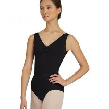 V-NECK PINCH FRONT LEOTARD W/BELT