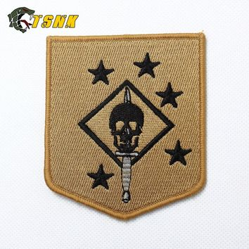 """USMC/MARINE RAIDERS"" TSNK Military Enthusiasts Embroidery Patch Army Tactical Boost Morale Badge"