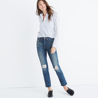 Taller Slim Straight Jeans: Knee-Rip Edition : shopmadewell extended sizes | Madewell