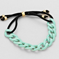 Chain Cord Adjust Bracelet Gold Mint