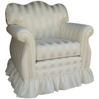 Angel Song 201721160Foam Elegance White Adult Empire Glider Rocker