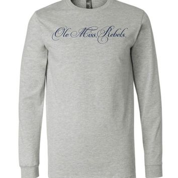 Official NCAA University of Mississippi Rebels Ole Miss Hotty Toddy Long Sleeve T-Shirt - 61UOLM