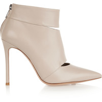Gianvito Rossi Cutout leather ankle boots – 60% at THE OUTNET.COM