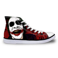 Men's Canvas High top Lace up sneakers Joker