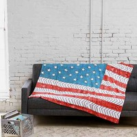 Bianca Green For DENY USA Fleece Blanket- Red One
