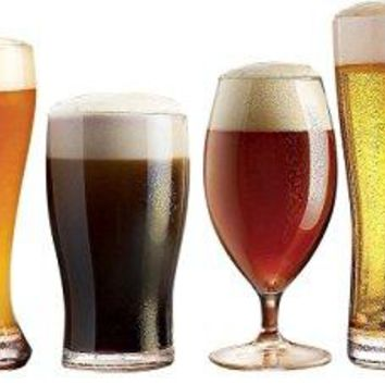 Luminarc Assorted Craft Brew Beer Glasses Set of 6 Clear