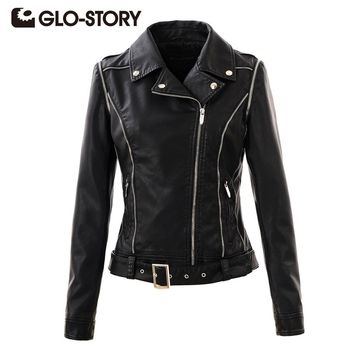 Women Jackets Chic  Street Punk Style Autumn Winter womens Coats Lady PU Leather Jacket Coat