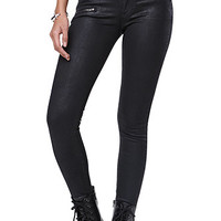 Bullhead Denim Co Zip Up Black Coated Skinniest Jeans at PacSun.com