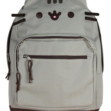 Pusheen Cat Face Backpack with 3D Ears and Whiskers