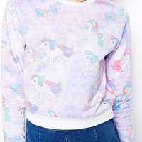 ASOS Cropped Sweatshirt with My Little Pony Print