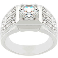 Rock Solid Cubic Zirconia Ring, size : 14