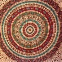 Elephant Mandala Tapestry Earthtones 1  - Mellow Mood
